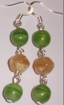 6769307e8 Žluto-zelené náušnice (BaKeN13) | Zuzky šperky z korálků