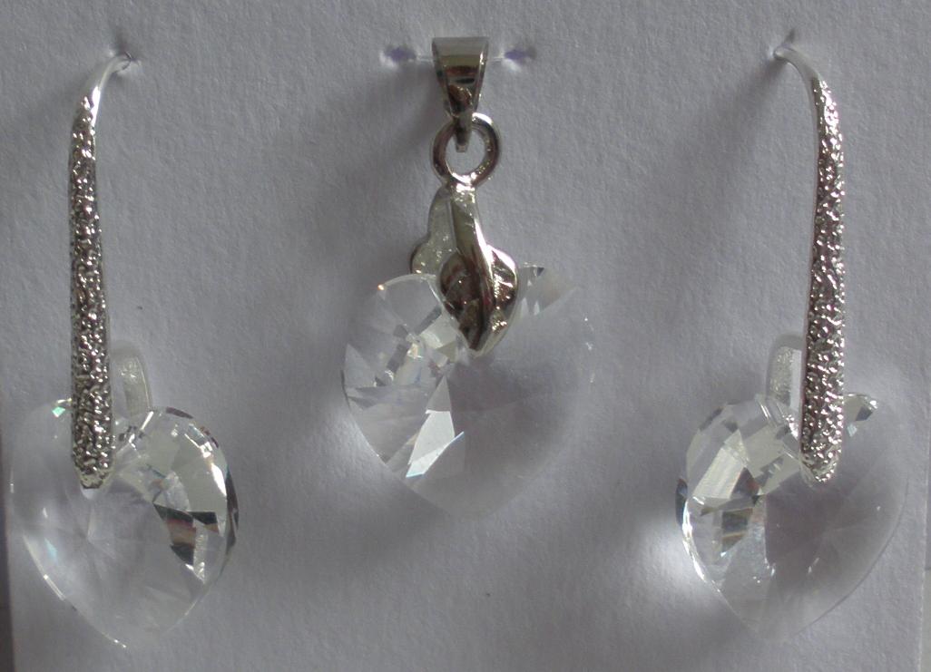 Sada Swarovski Srdce Crystal s bižuterními komponenty (Sw14Sr7) a255f9a3241