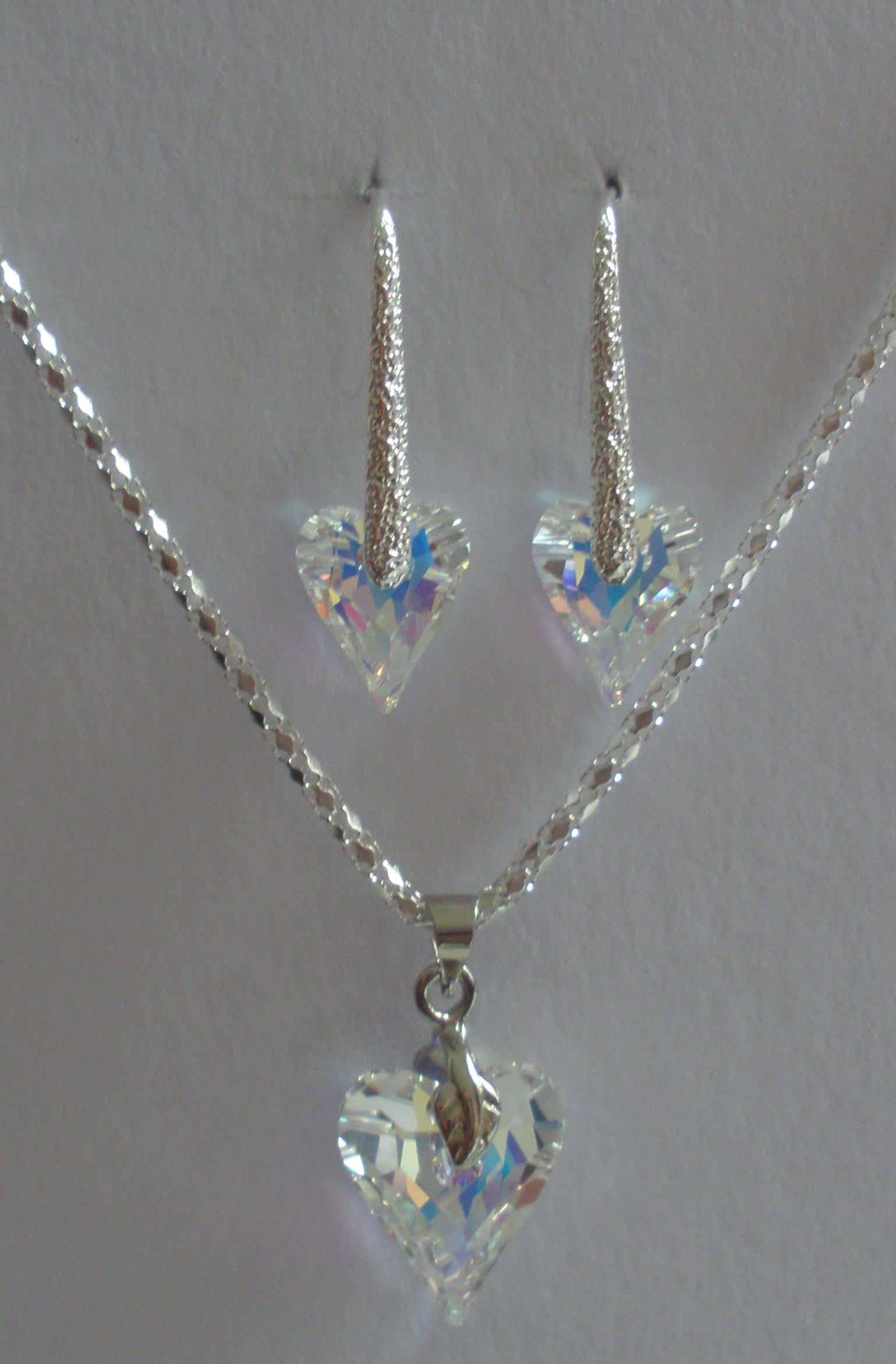Sada Swarovski Divoké srdce Crystal AB s bižuterními komponenty (SwDiS1) 4a105a134d2