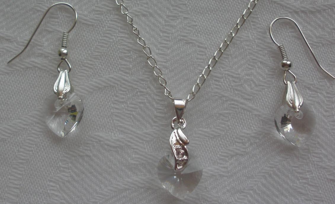 Sada Swarovski Srdce Crystal s bižuterními komponenty (Sw10Sr20) be0fbd73cb7