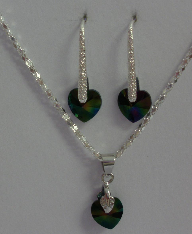 Sada Swarovski Srdce Rainbow s bižuterními komponenty (Sw10Sr60) 2d63d47c839